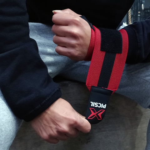 Picsil Sport Wrist Wraps - Red/Black