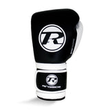 Ringside Pro Training G1 Velcro Leather Glove Black/White - 14oz