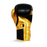 Ringside Pro Fitness Synthetic Leather Velcro Glove Black/Gold - 10oz