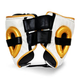 Ringside Pro Fitness Head Guard Synthetic Leather Metallic White/Black/Gold - Large