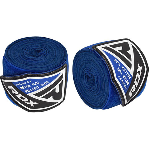 RDX HW Professional Boxing Hand Wraps Blue - 4.5m