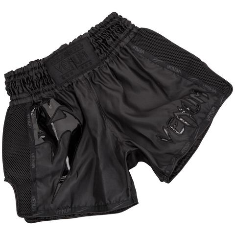 Venum Giant Muay Thai Shorts Black/Black - Medium