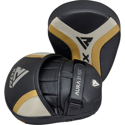 RDX T17 Aura Boxing Focus Pad - Black/Gold/Pearl