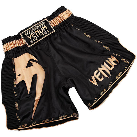 Venum Giant Muay Thai Shorts Black/Gold - XS
