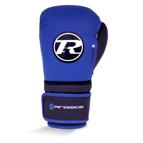 Ringside Workout Series Velcro Glove Blue/Black/White - 16oz