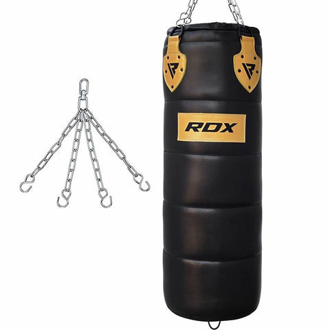RDX P1 4ft Professional Punch Bag Black (FILLED)