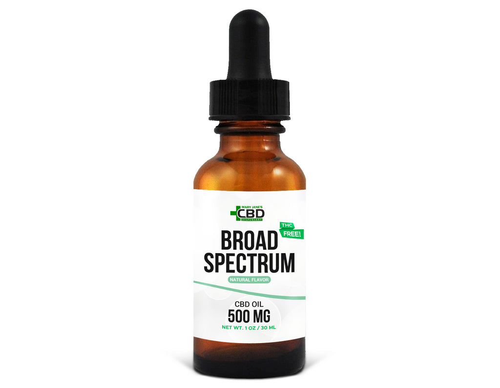 MJ Broad Spectrum CBD Oil 500mg Natural