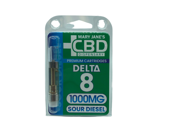 MJCBD Delta 8 Cartridge 1000mg - Assorted Flavors