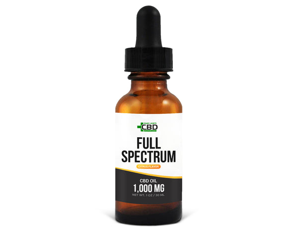 MJ Full Spectrum CBD Oil 1000mg Citrus