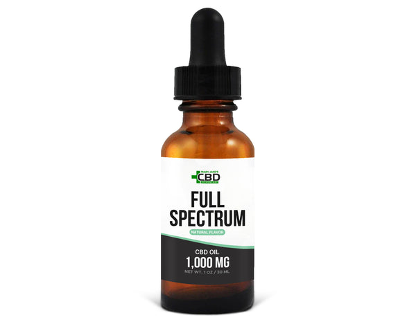 MJ Full Spectrum CBD Oil 1000mg Natural