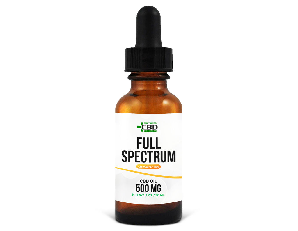 MJ Full Spectrum CBD Oil 500mg Citrus