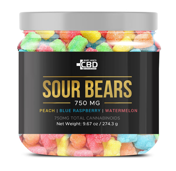 MJ CBD SOUR BEARS 750MG