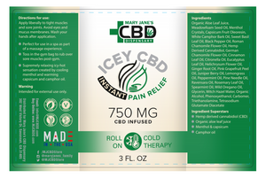 MJ Icey CBD Instant Relief Roll-On Cold Therapy