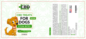 MJ CBD Treats for Dogs 100mg Steak Bites