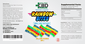 Premium Gummies 30 Pieces CBD Rainbow Bites (300mg) | ONLINE