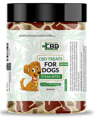 MJ CBD Treats for Dogs 500mg Steak Bites