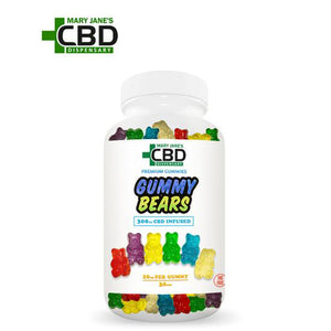 Premium Gummies CBD Gummy Bears 30 Piece (300mg)