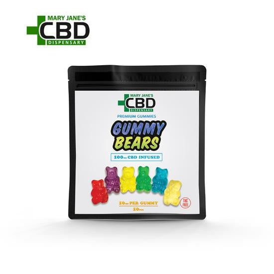 Premium Gummies CBD Gummy Bears 10 Piece (100mg)