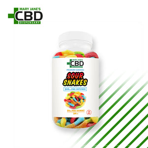 Premium Gummies 30 Pieces CBD Sour Snakes (300mg) | ONLINE