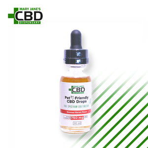MJ Pet Full Spectrum Tincture 750mg Bacon Flavor | ONLINE