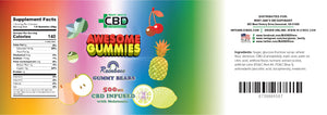 MJ Awesome Gummies CBD Oil Rainbow Bites 500mg (Melatonin)