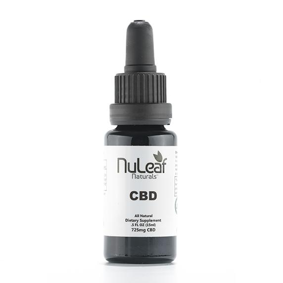 CBD Doctors | NuLeaf Naturals 725mg Full Spectrum CBD Oil, High Grade Hemp Extract (50mg/ml) hemp oil ADHD, ADD, PTSD, and pain relief.
