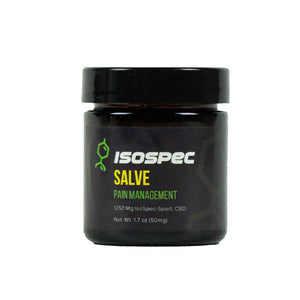 A pain management salve created by ISOSPEC health group. Infused in this product is full-spectrum, broad spectrum, and terpenes. Come shop ISOSPEC health products online at the CBD Doctors Shop