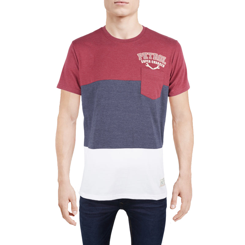 Petrol Men's Basic Tees Slim Fit 12889-U (Crimson/ H. Blue)