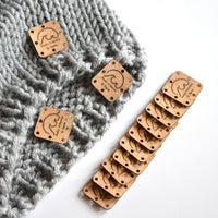 Natural Cork fabric patches set of 40
