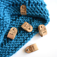 40 Natural Cork Fabric Non-Sew Custom Product Tags .6 inch