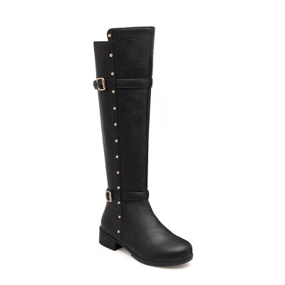 Women's Flat Top Rivet Boots