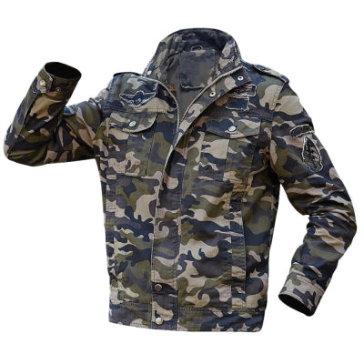 Appliques Camouflage Printed Jacket