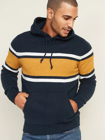Color-Blocked Sweater Hoodie for Men
