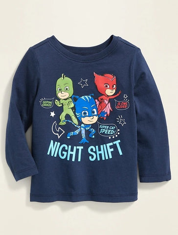 "PJ Masks™ ""Night Shift"" Graphic Tee for Toddler Boys"