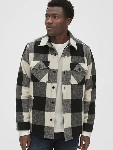 Cozy Wool-Blend Plaid Shirt Jacket