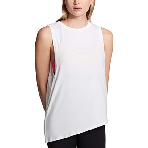 DKNY Sport Womens Fitness Running Muscle Tank White L - T-Shirts - SouqBrands.com