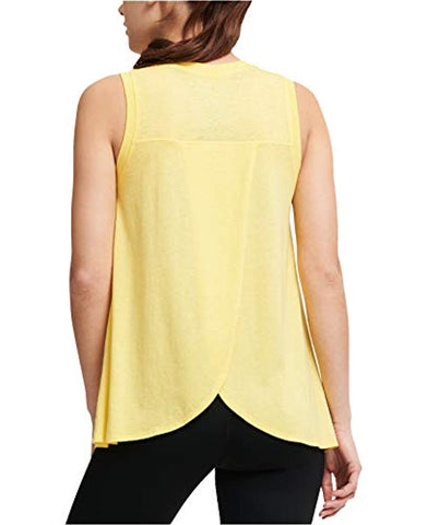 DKNY Sport Women's ICY Wash Overlap-Back Tank Top yellow Small - T-shirts - SouqBrands.com