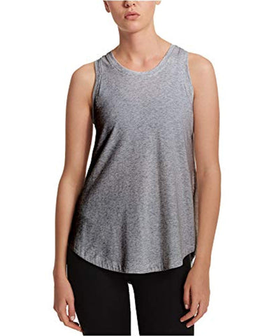 DKNY Sport Women's Cross-Back Tank Top, Charcoal, X-Large - T-shirts - SouqBrands.com