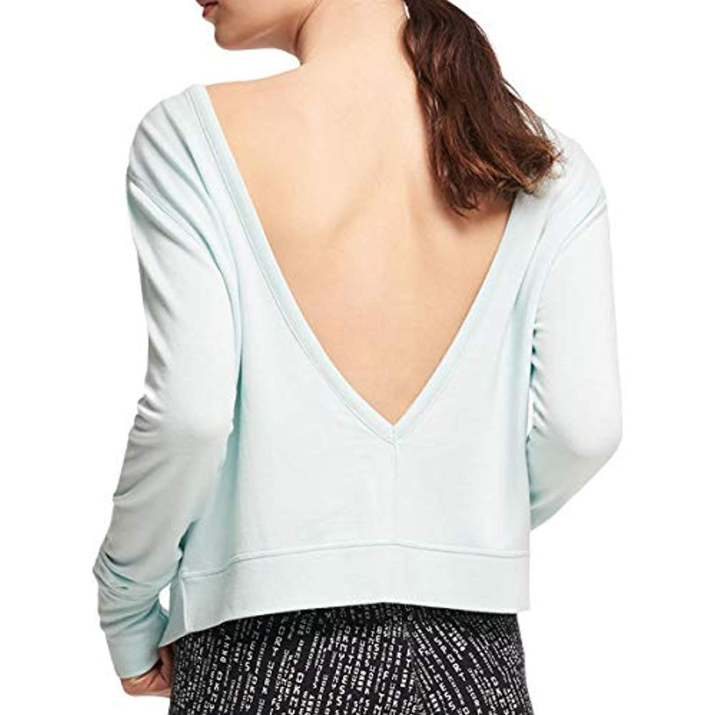 DKNY Sport Womens V-Back Fitness Sweatshirt Blue S - Sweatshirt - SouqBrands.com