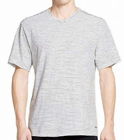 DKNY Marshmallow Mens Large V-Neck Striped T-Shirt - T-Shirts - SouqBrands.com