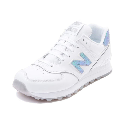 New Balance Women's WL574 CORE PLUS-W Lifestyle Sneaker White Iridescent 1518 - Shoes - SouqBrands.com
