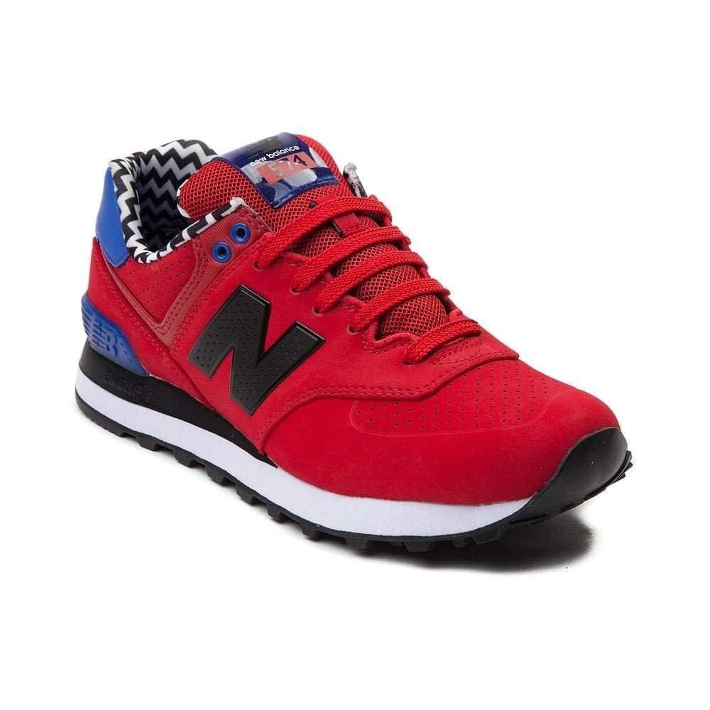 New Balance Women's WL574 CORE PLUS-W Lifestyle Sneaker Red 1443 - Shoes - SouqBrands.com