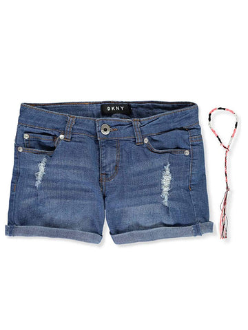 DKNY Girls' Rip and Repair Cuffed Denim Short - Shorts - SouqBrands.com