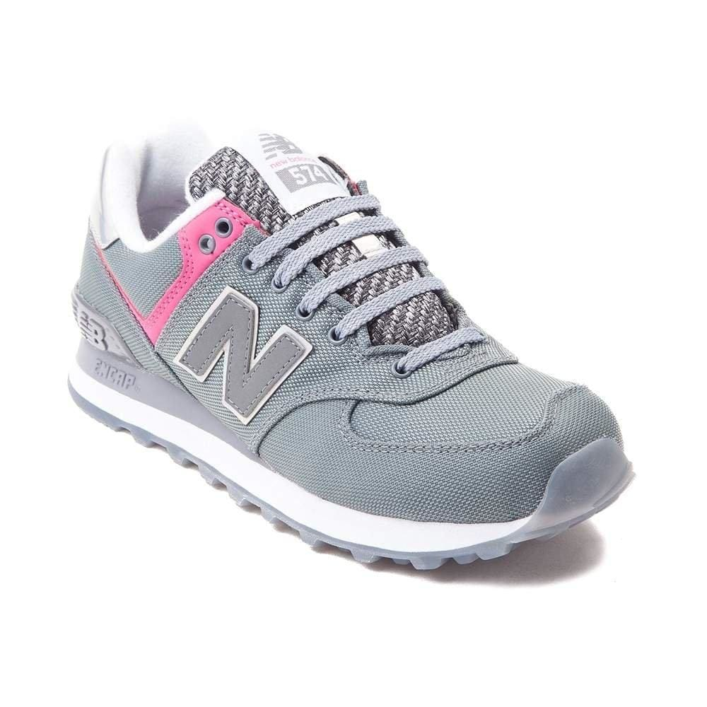 New Balance Women's WL574 CORE PLUS-W Lifestyle Sneaker Grey Pink 1520 - Shoes - SouqBrands.com