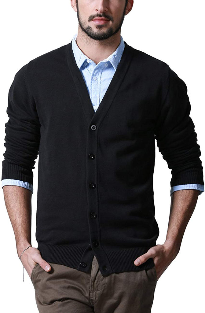 Match Men's K|G Series Shawl Collar Cardigan Sweater - Clothes - SouqBrands.com