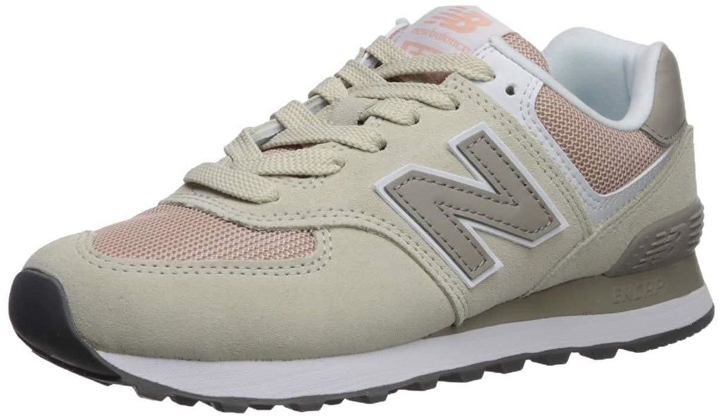 New Balance Women's WL574 CORE PLUS-W Lifestyle Sneaker Oyster/Oxygen Pink - Shoes - SouqBrands.com