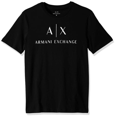 A|X Armani Exchange Men's Crew Neck Logo Tee Black - T-Shirt - SouqBrands.com