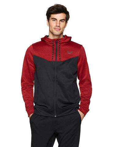 Peak Velocity Men's Quantum Fleece Full-Zip Loose-Fit Hoodie - Clothes - SouqBrands.com