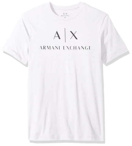 A|X Armani Exchange Men's Crew Neck Logo Tee Pure White - T-Shirt - SouqBrands.com