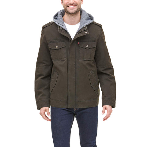 Levi's Men's Four-Pocket Hooded Jacket - Jacket - SouqBrands.com